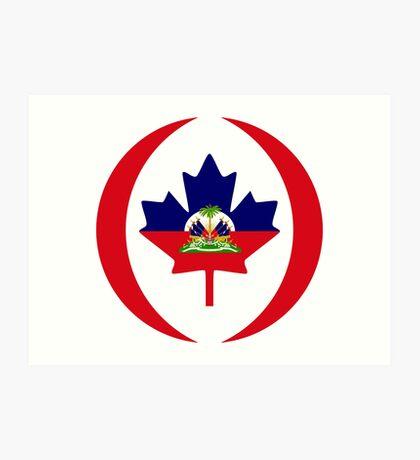 Haitian Canadian Multinational Patriot Flag Series Art Print