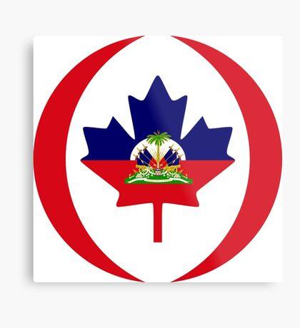 Haitian Canadian Multinational Patriot Flag Series Metal Print