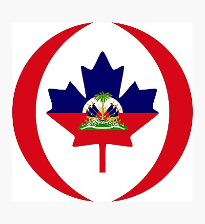 Haitian Canadian Multinational Patriot Flag Series Photographic Print