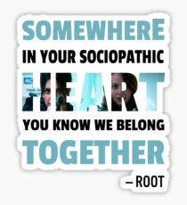 sociopathic heart - Root & Shaw Sticker