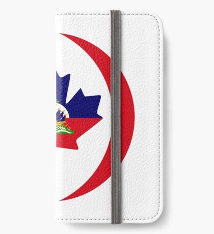 Haitian Canadian Multinational Patriot Flag Series iPhone Wallet