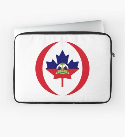 Haitian Canadian Multinational Patriot Flag Series Laptop Sleeve