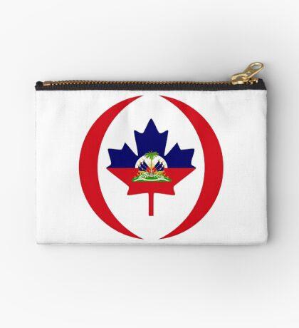 Haitian Canadian Multinational Patriot Flag Series Zipper Pouch