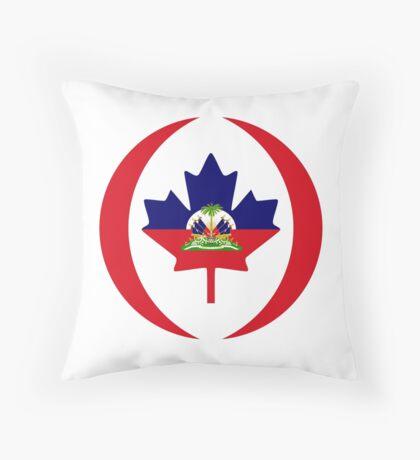 Haitian Canadian Multinational Patriot Flag Series Throw Pillow