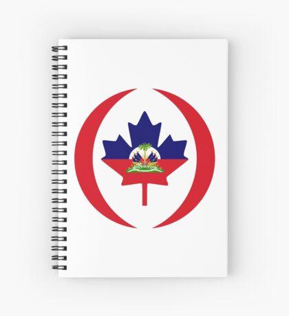 Haitian Canadian Multinational Patriot Flag Series Spiral Notebook