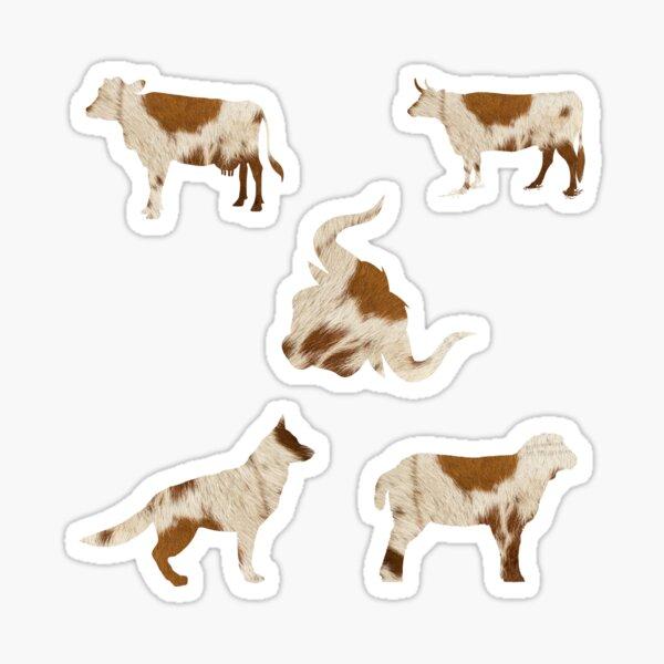 Beautiful brown cow fur pattern Sticker