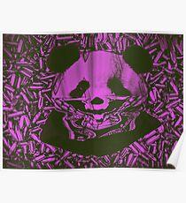 Purple Gangsta Panda Poster