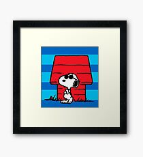 snoopy home sweet home Framed Print