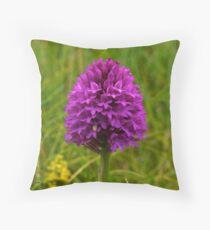 Pyramidal Orchid, Inishmore Throw Pillow