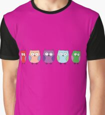 5 little Owls Graphic T-Shirt