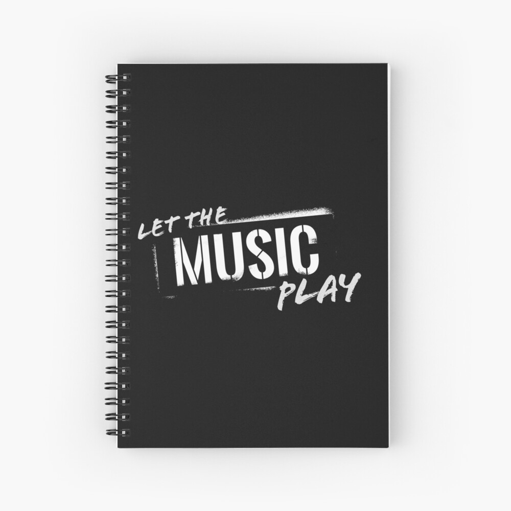 Let The Music Play logo Spiral Notebook