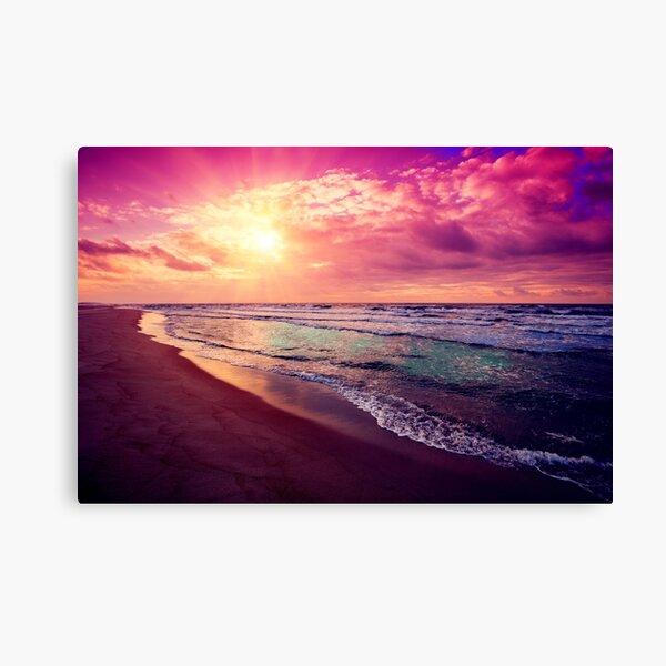 Heavens Beach at Sunrise Paradise Artwork Canvas Print