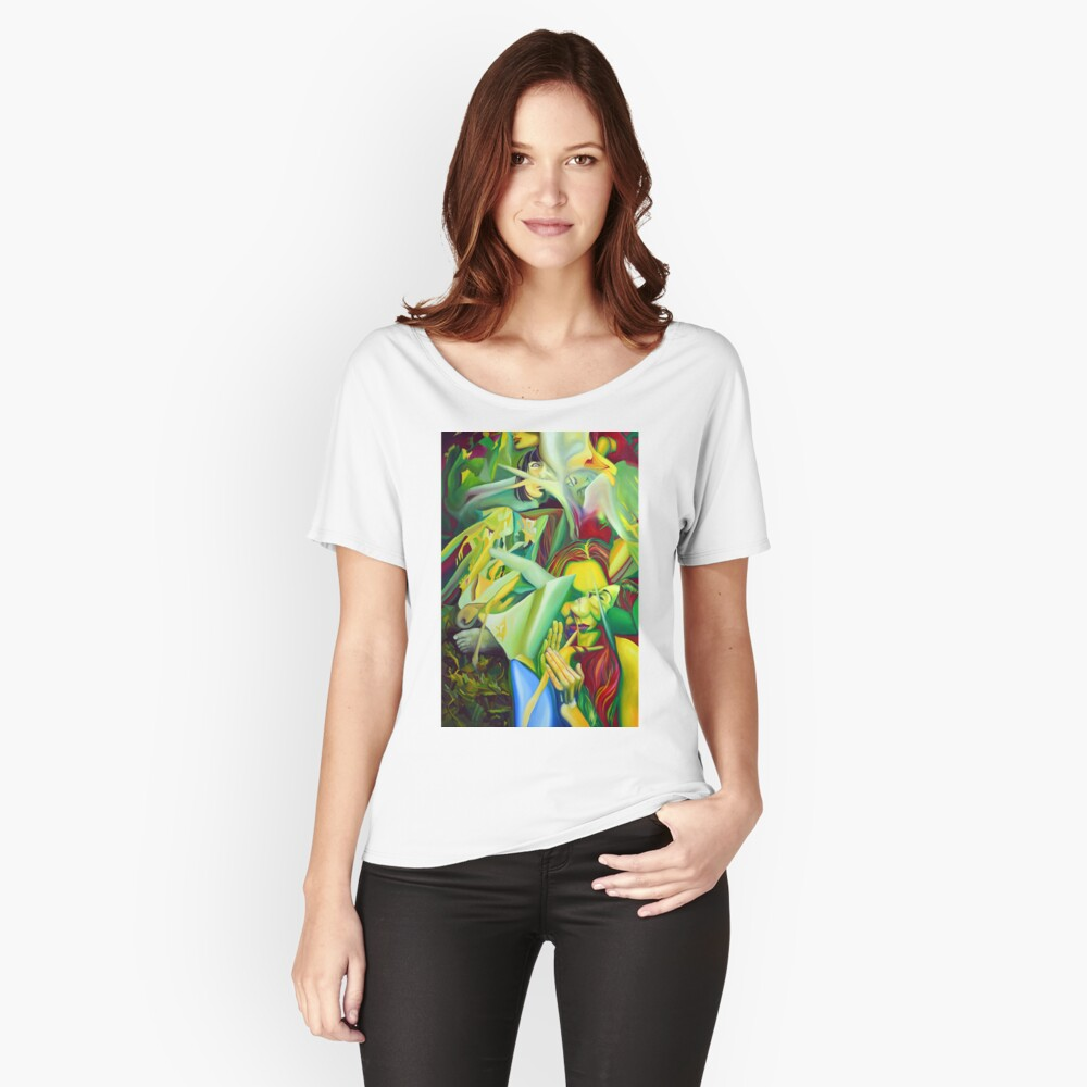Escape To Fantasy, 120-80cm, 2016, oil on canvas Women's Relaxed Fit T-Shirt Front