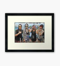 Four Korean Girls at Mudfest Framed Print