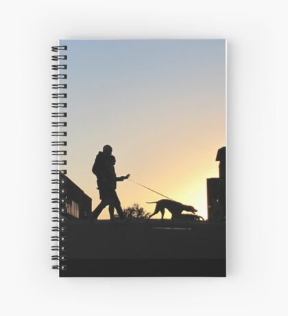 Tethered Walk At Sundown Spiral Notebook