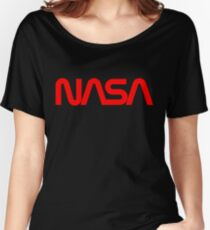 NASA Worm logo Women's Relaxed Fit T-Shirt