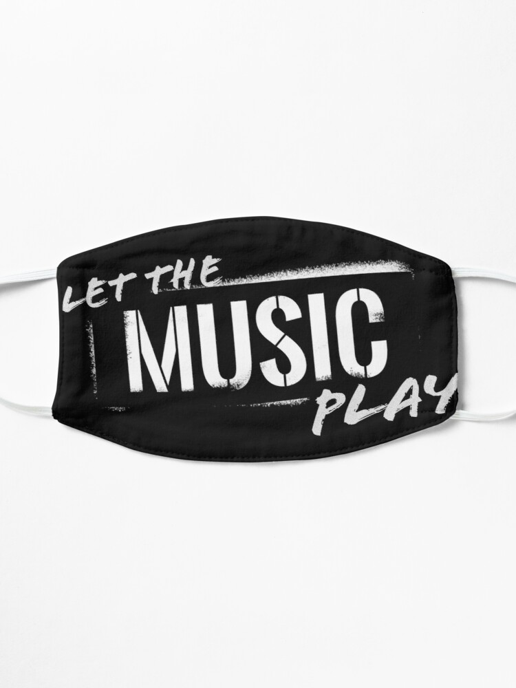 Alternate view of Let The Music Play logo Mask