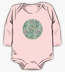 Bamboo, Birds and Blossom - soft blue green Kids Clothes