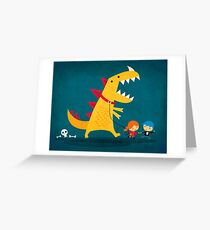 Dino Walk Greeting Card