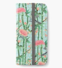Bamboo, Birds and Blossom - soft blue green iPhone Wallet/Case/Skin