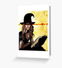 Witch of Fire and Crow Greeting Card
