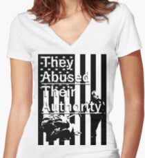 Abuse Women's Fitted V-Neck T-Shirt