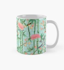 Bamboo, Birds and Blossom - soft blue green Mug