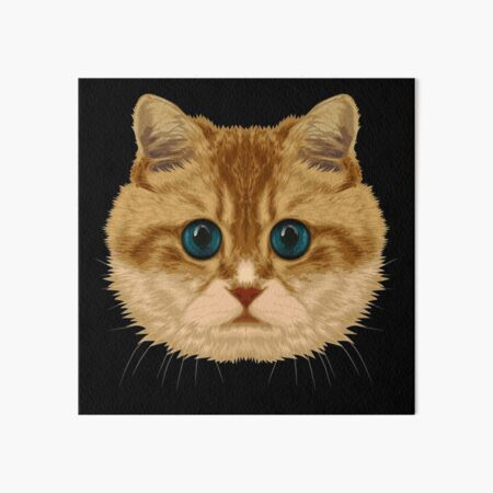 British Shorthair Cat Art Board Print