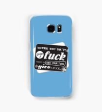 """Ain't Your Turn to Give a Fuck"" - The Wire (Dark) Samsung Galaxy Case/Skin"
