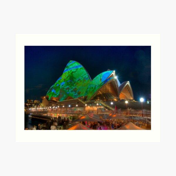 Luminous Opera House Art Print
