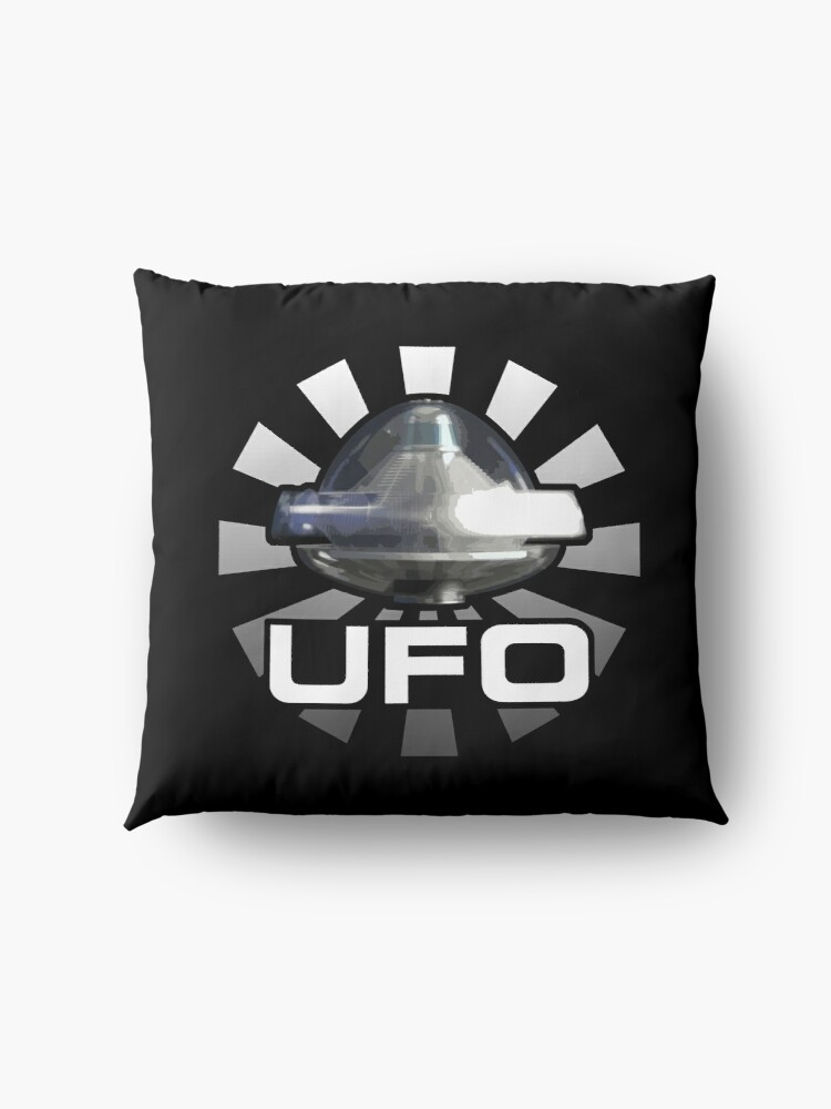 Alternate view of Gerry Anderson's UFO - ALIEN SPACECRAFT Floor Pillow