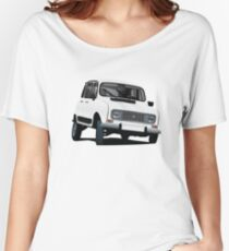 Renault 4L illustration, white Women's Relaxed Fit T-Shirt