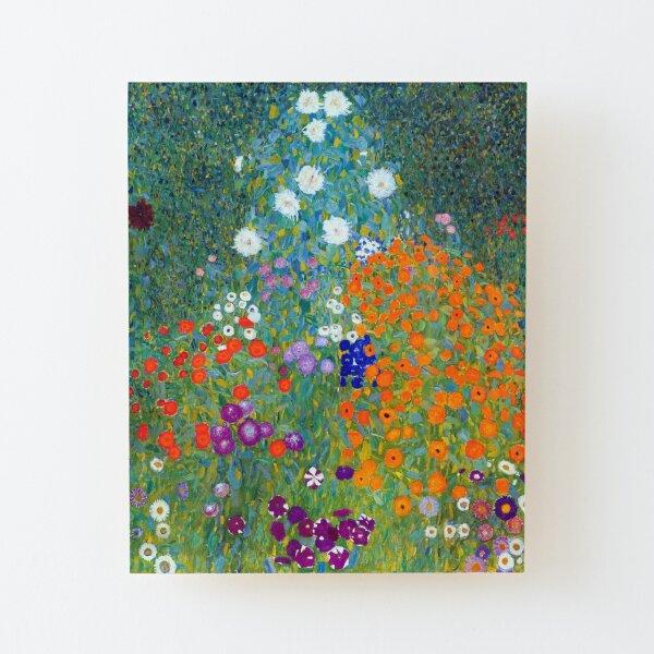 Gustav Klimt Flower Garden Wood Mounted Print