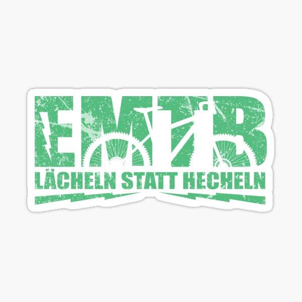 EMTB mountain bike downhill - funny saying Sticker