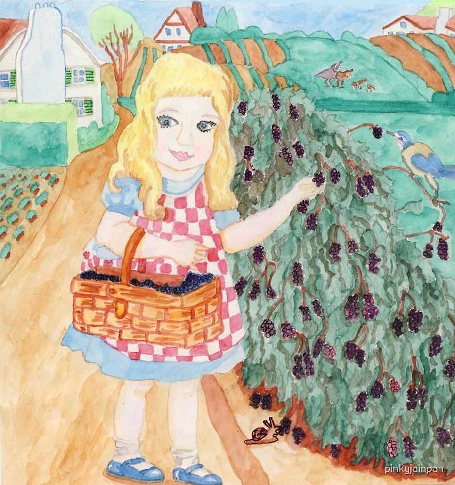 Goldilocks Picking Blackberries by pinkyjainpan