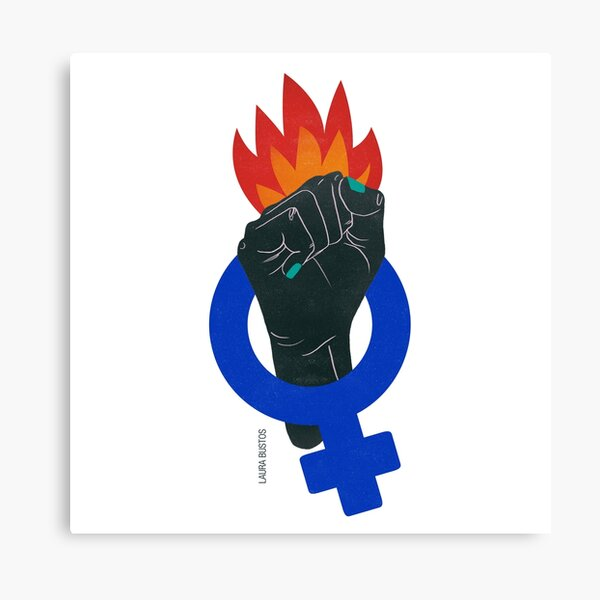 The feminist struggle Canvas Print