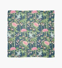 Bamboo, Birds and Blossom - dark teal Scarf