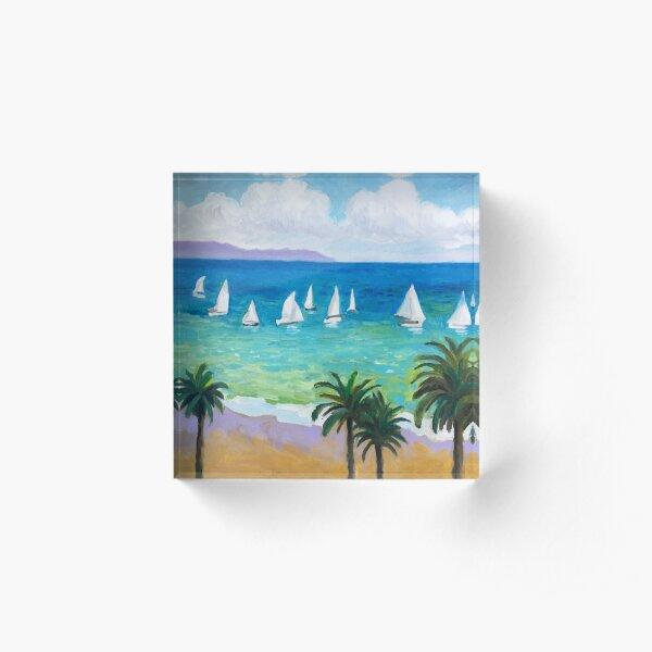 Santa Barbara Sailboats Acrylic Block