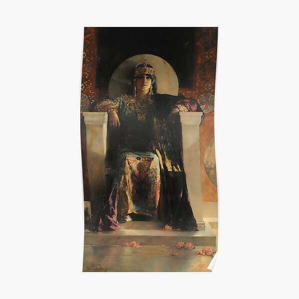 Saint Empress Theodora Enthroned-Jean Joseph Benjamin-Constant Poster