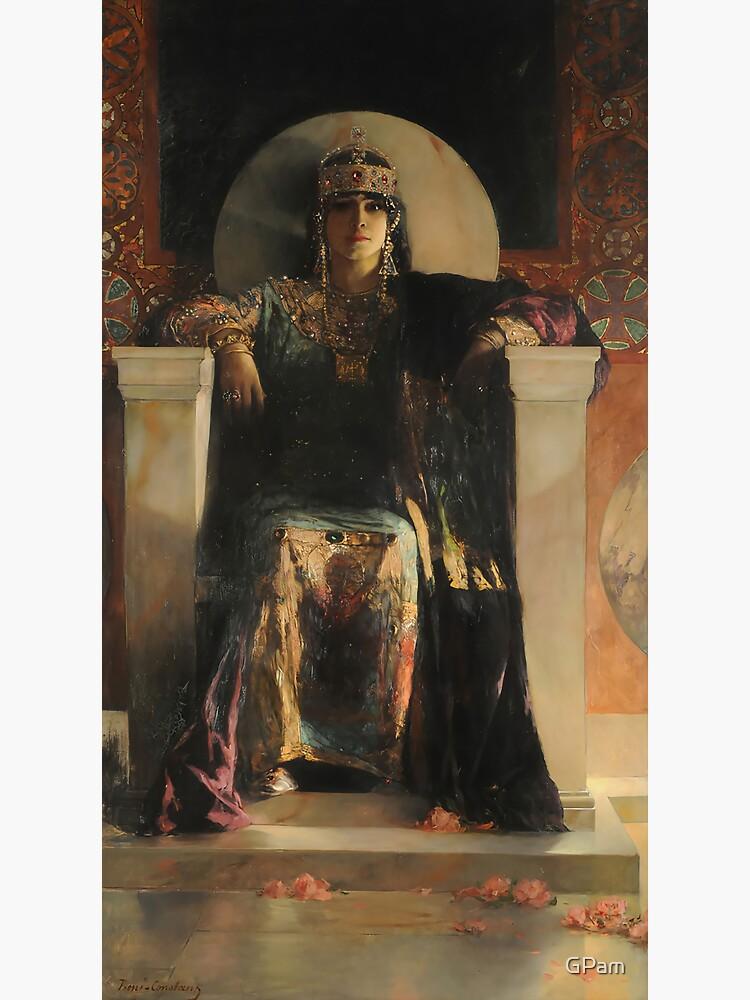 Saint Empress Theodora Enthroned-Jean Joseph Benjamin-Constant by GPam