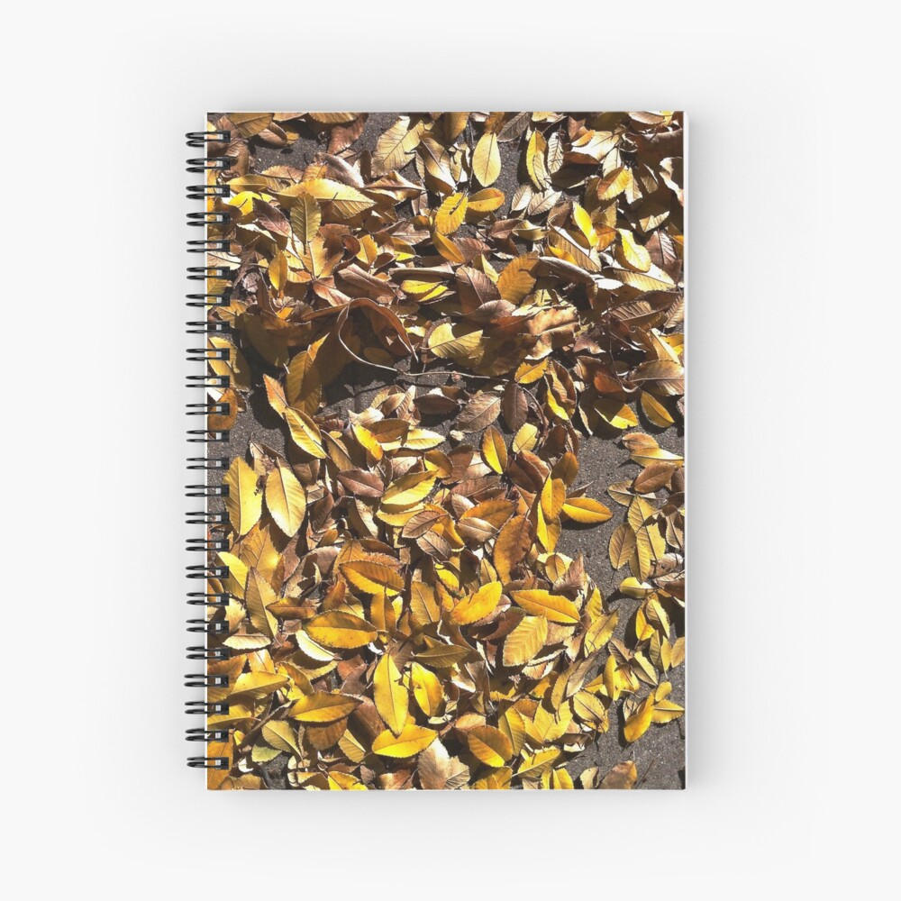 Elm leaves in Autumn Spiral Notebook