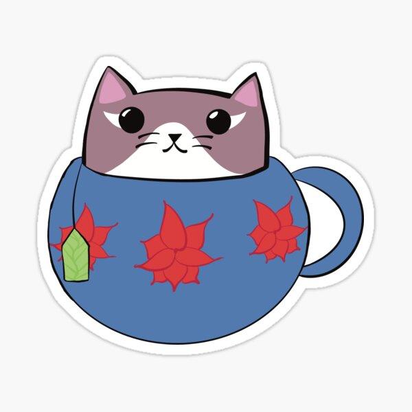Ruby the Cattuccino Kitten Sticker