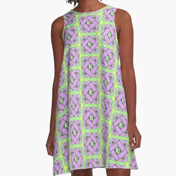 Random Pattern Design 1503 A-Line Dress