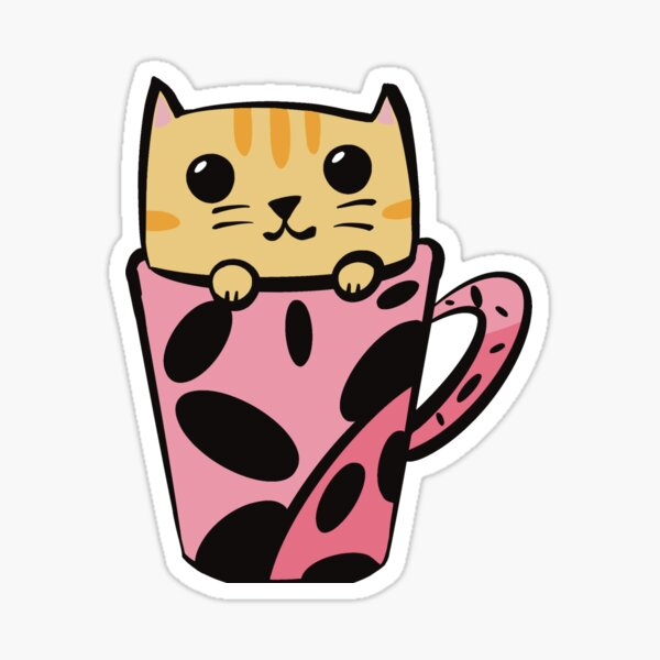 Stella the Cattuccino Kitten Sticker