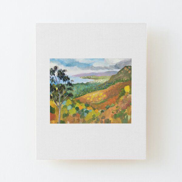 Montecito View by Paul Cumes Wood Mounted Print