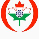 Indo Canadian Multinational Patriot Flag Series by Carbon-Fibre Media