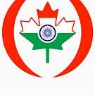 Indo Canadian Multinational Patriot Flag Series by Carbon-Fibre Media