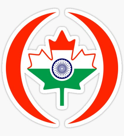 Indo Canadian Multinational Patriot Flag Series Sticker