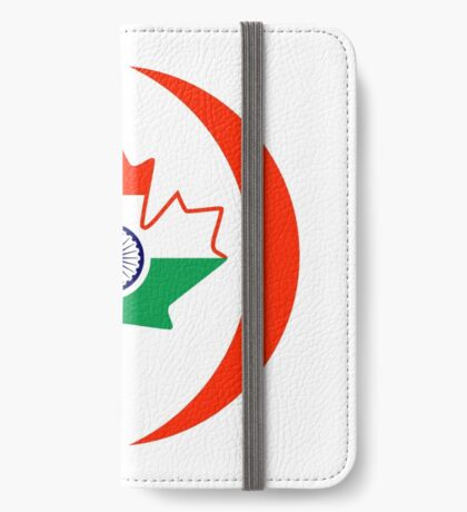 Indo Canadian Multinational Patriot Flag Series iPhone Wallet