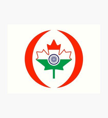 Indo Canadian Multinational Patriot Flag Series Art Print